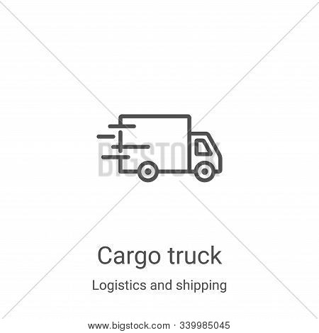 cargo truck icon isolated on white background from logistics and shipping collection. cargo truck ic