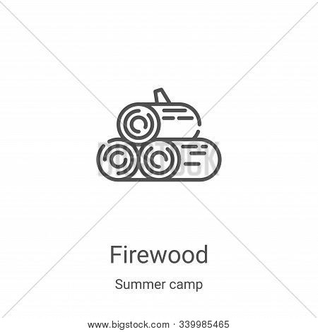 firewood icon isolated on white background from summer camp collection. firewood icon trendy and mod