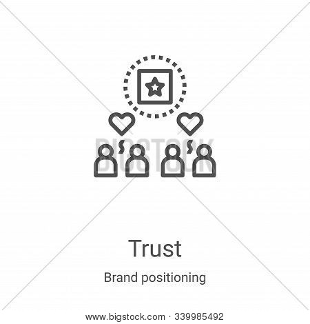 trust icon isolated on white background from brand positioning collection. trust icon trendy and mod