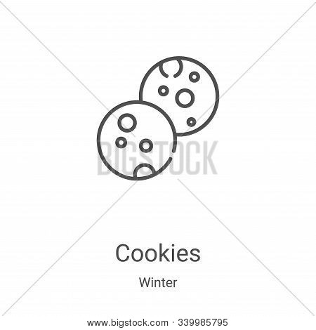 cookies icon isolated on white background from winter collection. cookies icon trendy and modern coo