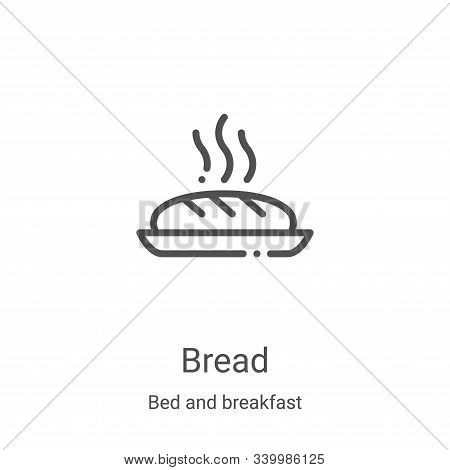 bread icon isolated on white background from bed and breakfast collection. bread icon trendy and mod