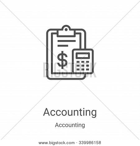 accounting icon isolated on white background from accounting collection. accounting icon trendy and