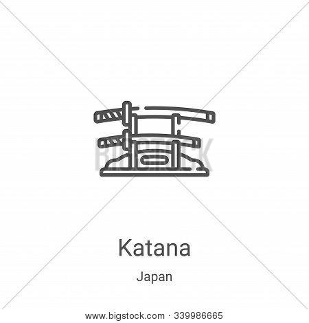 katana icon isolated on white background from japan collection. katana icon trendy and modern katana