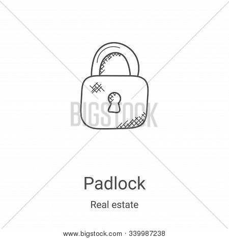 padlock icon isolated on white background from real estate collection. padlock icon trendy and moder