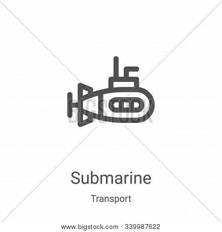 submarine icon isolated on white background from transport collection. submarine icon trendy and mod