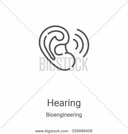 hearing icon isolated on white background from bioengineering collection. hearing icon trendy and mo