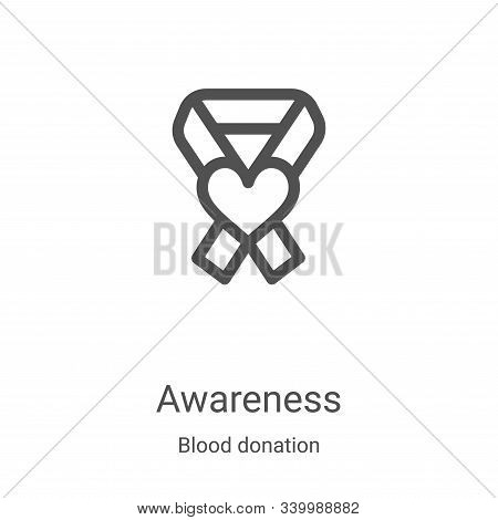 awareness icon isolated on white background from blood donation collection. awareness icon trendy an