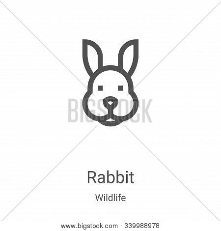 rabbit icon isolated on white background from wildlife collection. rabbit icon trendy and modern rab