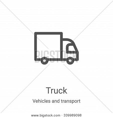 truck icon isolated on white background from vehicles and transport collection. truck icon trendy an