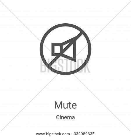 mute icon isolated on white background from cinema collection. mute icon trendy and modern mute symb