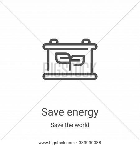 save energy icon isolated on white background from save the world collection. save energy icon trend