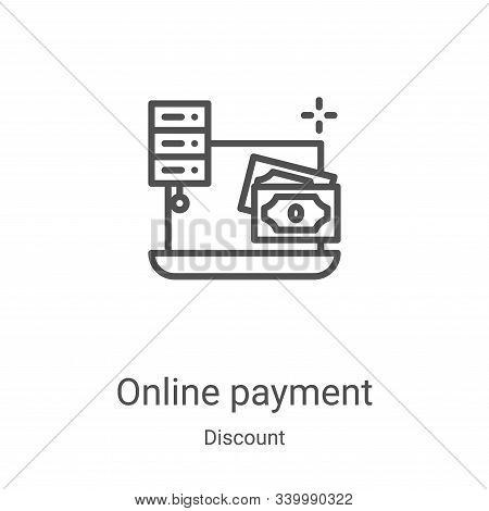 online payment icon isolated on white background from discount collection. online payment icon trend