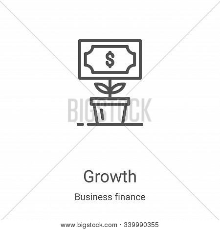 growth icon isolated on white background from business finance collection. growth icon trendy and mo