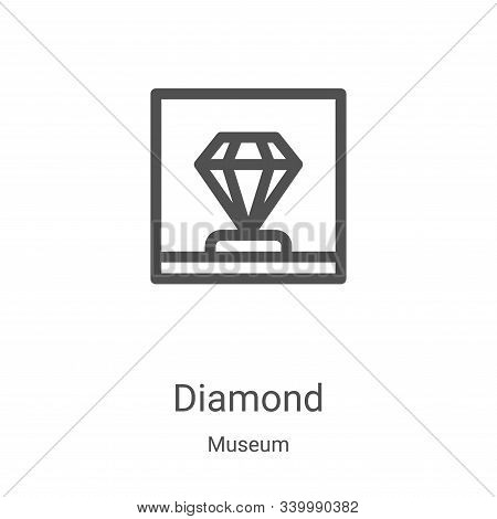 diamond icon isolated on white background from museum collection. diamond icon trendy and modern dia