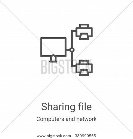 sharing file icon isolated on white background from computers and network collection. sharing file i