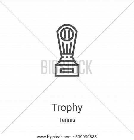 trophy icon isolated on white background from tennis collection. trophy icon trendy and modern troph
