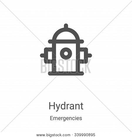 hydrant icon isolated on white background from emergencies collection. hydrant icon trendy and moder