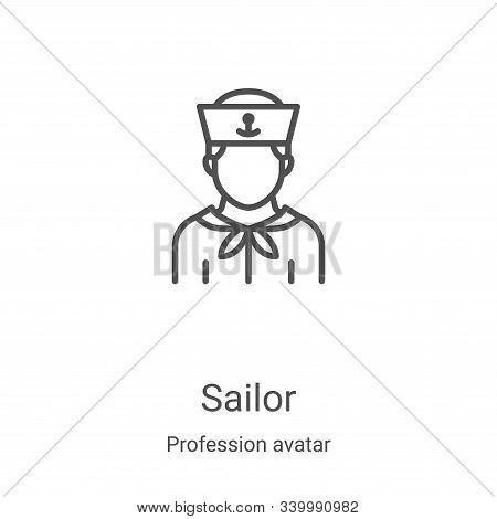 sailor icon isolated on white background from profession avatar collection. sailor icon trendy and m