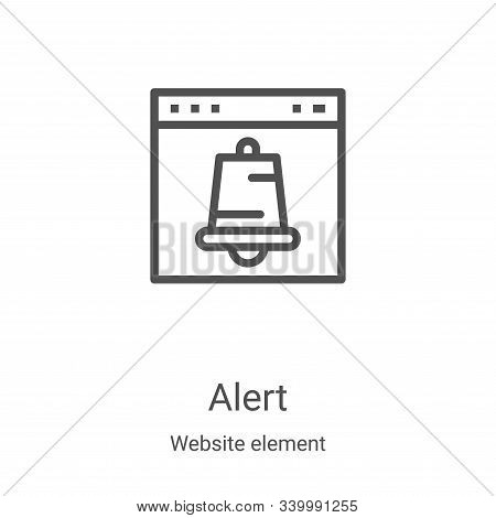 alert icon isolated on white background from website element collection. alert icon trendy and moder