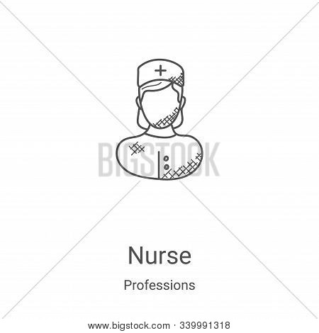 nurse icon isolated on white background from professions collection. nurse icon trendy and modern nu