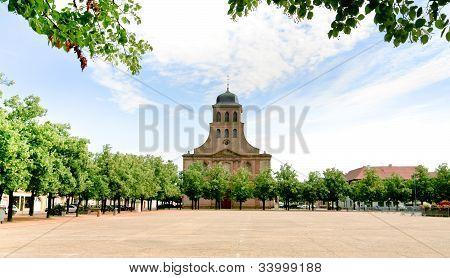 Church In Neuf-brisach City, France