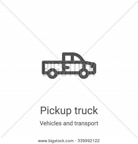 pickup truck icon isolated on white background from vehicles and transport collection. pickup truck