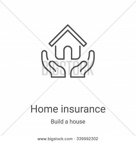 home insurance icon isolated on white background from build a house collection. home insurance icon