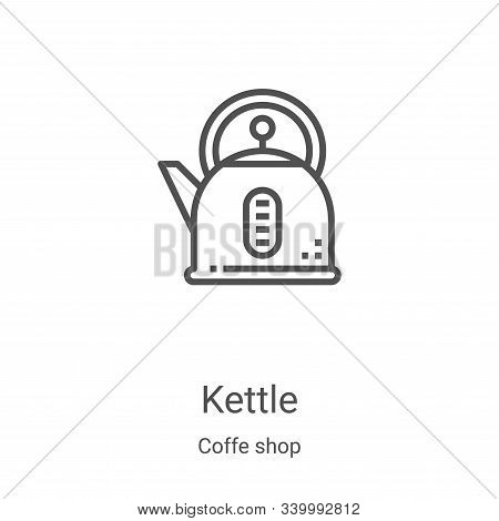 kettle icon isolated on white background from coffe shop collection. kettle icon trendy and modern k