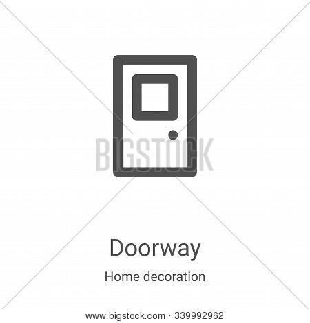 doorway icon isolated on white background from home decoration collection. doorway icon trendy and m