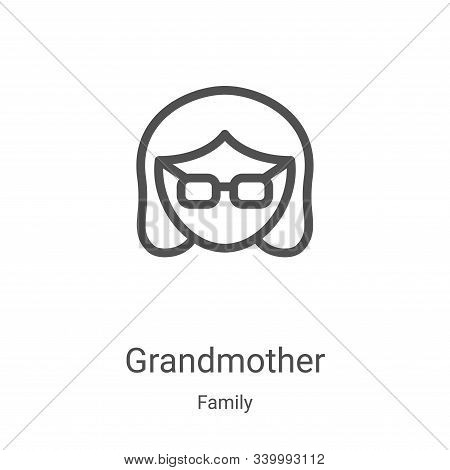 grandmother icon isolated on white background from family collection. grandmother icon trendy and mo