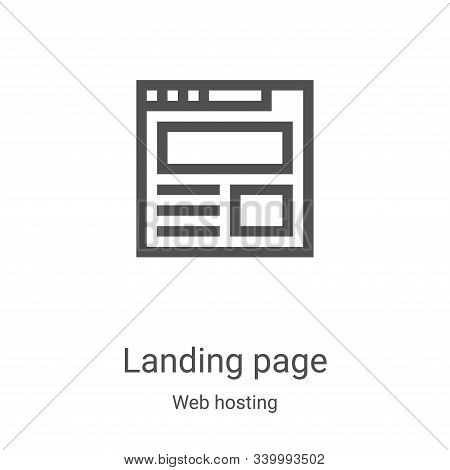 landing page icon isolated on white background from web hosting collection. landing page icon trendy