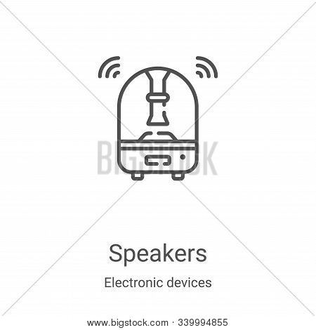 speakers icon isolated on white background from electronic devices collection. speakers icon trendy