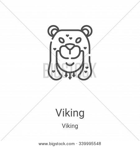 viking icon isolated on white background from viking collection. viking icon trendy and modern vikin