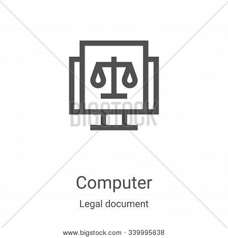 computer icon isolated on white background from legal document collection. computer icon trendy and