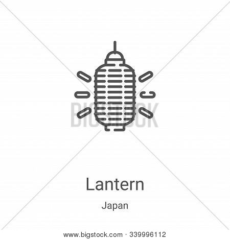 lantern icon isolated on white background from japan collection. lantern icon trendy and modern lant