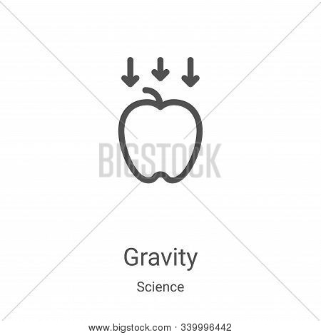 gravity icon isolated on white background from science collection. gravity icon trendy and modern gr