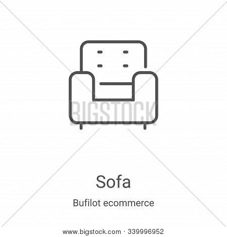 sofa icon isolated on white background from bufilot ecommerce collection. sofa icon trendy and moder