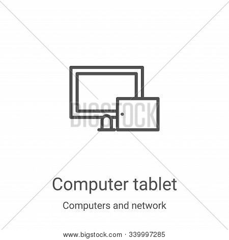 computer tablet icon isolated on white background from computers and network collection. computer ta