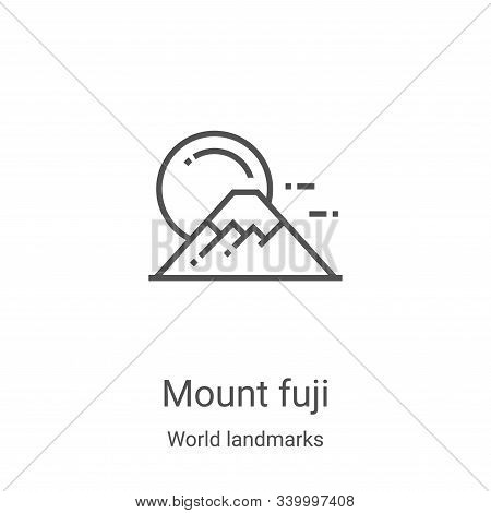 mount fuji icon isolated on white background from world landmarks collection. mount fuji icon trendy