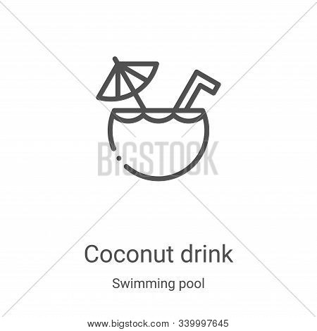 coconut drink icon isolated on white background from swimming pool collection. coconut drink icon tr