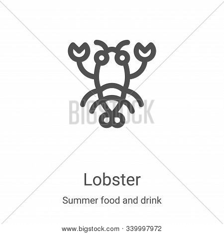 lobster icon isolated on white background from summer food and drink collection. lobster icon trendy