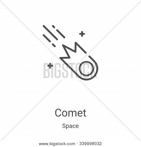 comet icon isolated on white background from space collection. comet icon trendy and modern comet sy