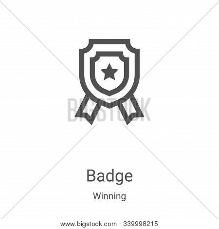 badge icon isolated on white background from winning collection. badge icon trendy and modern badge