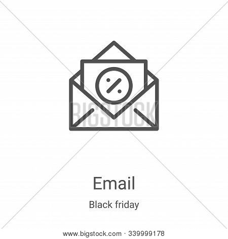 email icon isolated on white background from black friday collection. email icon trendy and modern e