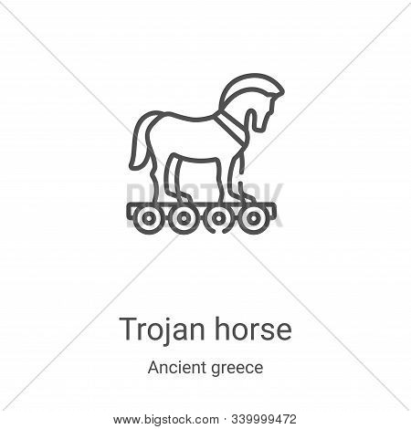 trojan horse icon isolated on white background from ancient greece collection. trojan horse icon tre