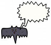 spooky halloween bat poster