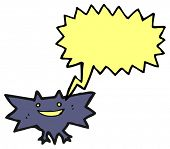 spooky halloween bat cartoon poster