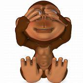3 D Render of an Toon Ape poster