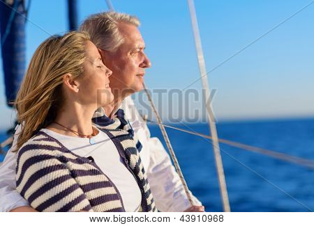 Happy Mature Couple On Vacation, Outdoors