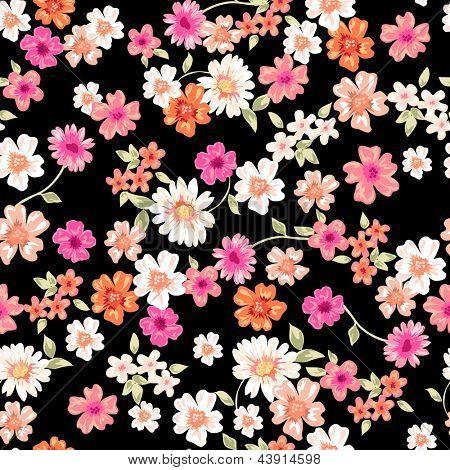 sweet daisy seamless background